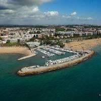 Vista aérea del puerto