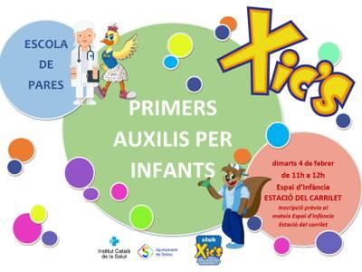La Escola de Pares de Salou organiza la formación 'Primeros auxilios para niños', el próximo martes, 4 de febrero