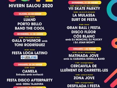 La concejalía de Juventud apuesta por el talento local en esta Festa Major d'hivern de Salou 2020