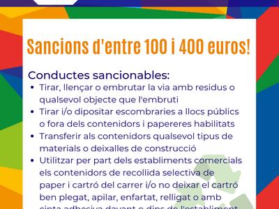 El Ayuntamiento de Salou tramita una quincena de multas por vertidos incívicos en la vía pública