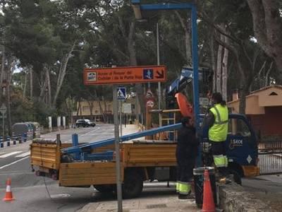 Salou afronta la recta final de las obras de renovación del alumbrado público en la Carretera de la Costa