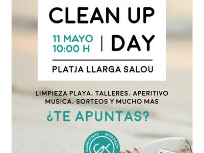 "Doscientas personas se suman a la jornada de voluntariado ""Let 's Clean Up Europe!"" en la playa Llarga de Salou"