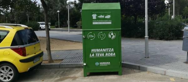 Humana recupera 55 toneladas de ropa usada en Salou con una finalidad social y ambiental
