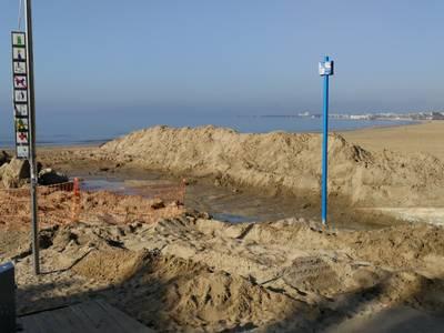 Salou mejora diversos canales de salida de aguas pluviales en la Playa Levante