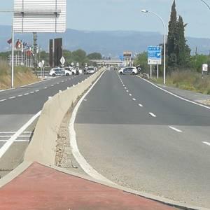 Salou realiza controles en las carreteras de acceso para evitar las entradas al municipio, durante todo el fin de semana
