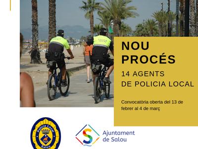 Se abre una convocatoria de proceso selectivo de 14 plazas para la Policia Local de Salou