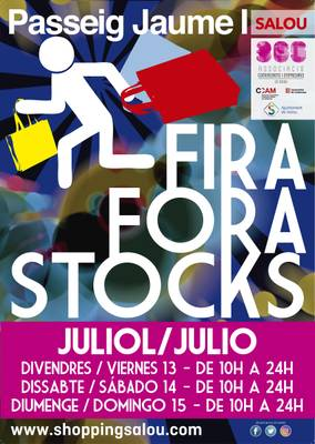 Este fin de semana vuelve la feria Fuera Stocks al paseo Jaume I