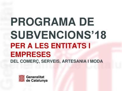 Se abren las convocatorias para la concesión de subvenciones en el ámbito del comercio, los servicios, la artesanía y la moda para el año 2018