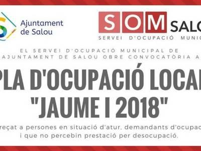 """El Servicio de Empleo Municipal del Ayuntamiento de Salou pone en marcha una nueva edición del Plan de Empleo Local """"Jaume I"""""""