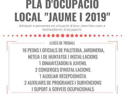 """Listado definitivo de personas admitidas del proceso selectivo convocado para el acceso al Plan de Ocupación Local """"Jaume I 2019"""" del Ayuntamiento de Salou"""