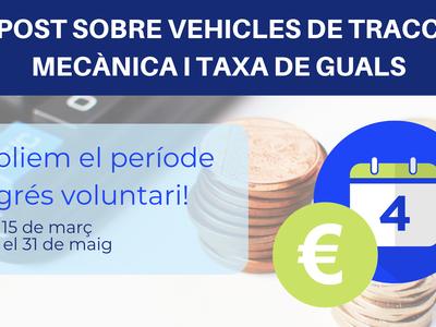 El Ayuntamiento de Salou amplía el período de ingreso voluntario del Impuesto de vehículos y de la tasa de vados