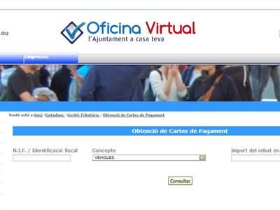 Salou habilita nuevos servicios de pago on line y de obtención de cartas de pago