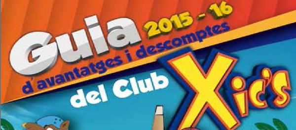 El Club Xic's presenta la tercera edición de la guía de ventajas y descuentos de comercios del municipio