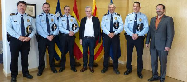Cuatro agentes de la Policía Local de Salou, condecorados en el día de las Escuadras de los Mossos