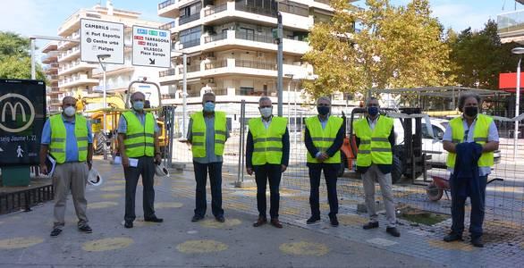 El alcalde de Salou asiste al arranque de las obras de Carles Buïgas, que mejorarán la calidad de vida de residentes y visitantes y dinamizarán el comercio de la zona