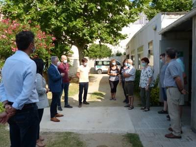 El alcalde de Salou felicita a la Asociación Eluzai por su labor humanitaria, en primera línea, durante la pandemia de la COVID-19