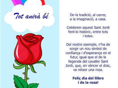 El alcalde de Salou, Pere Granados, felicita la Diada de Sant Jordi a la ciudadanía con un punto de libro