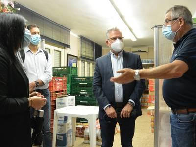 El alcalde Pere Granados agradece el compromiso y la labor humanitaria de Cáritas Interparroquial de Salou, durante la pandemia de la COVID-19