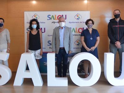 El alcalde Pere Granados recibe al nuevo equipo directivo de la Escola Europa de Salou