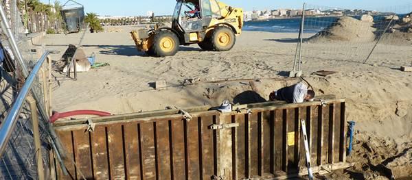 El Ayuntamiento de Salou repara todas las salidas de pluviales de la playa de Poniente