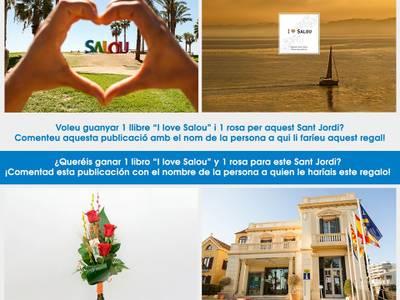 El Patronato Municipal de Turismo de Salou celebra la Diada de Sant Jordi, con un concurso para conseguir el libro 'I love Salou' y una rosa