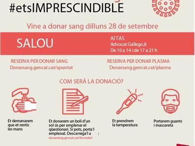 El Teatro Auditorio de Salou acoge una jornada de donación de sangre, el próximo lunes, 28 de septiembre