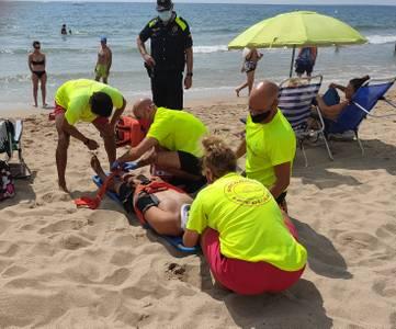 Salou pone en valor la calidad de sus servicios y la seguridad en las playas, a través de la realización de simulacros de salvamento y socorrismo