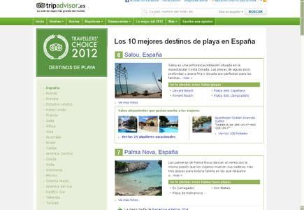 Salou se sube al Top 10 de las mejores playas de España según el portal TripAdvisor