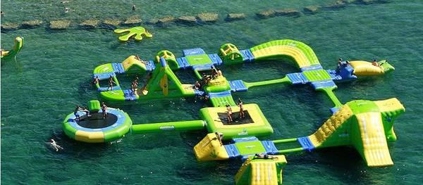Salou tendrá un parque flotante en la Playa de Poniente y la espectacular atracción de Flyboard