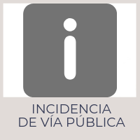 Incidencia de Vía Pública