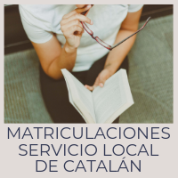 Matriculaciones servicio local de catalán