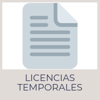 Licencias temporales (vending, etc.)